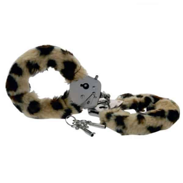 Leopard furry cuffs