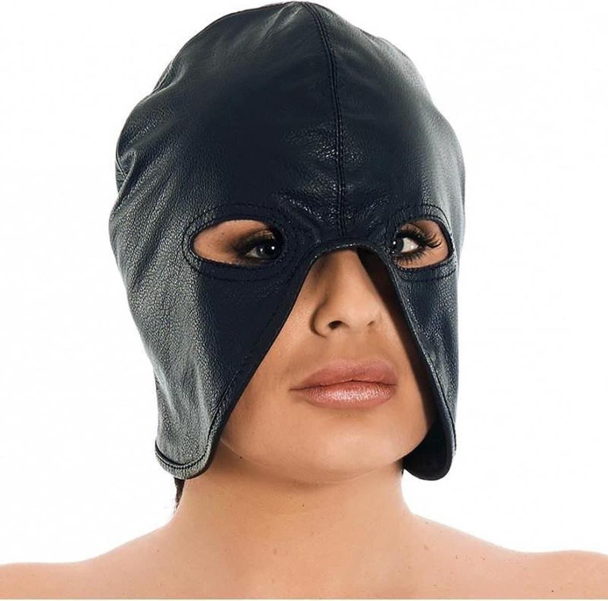 Leather BDSM hood