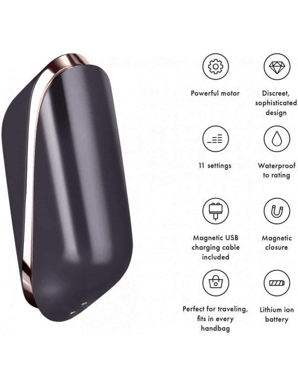 Satisfyer Pro Traveler Clitoral Vibrator features