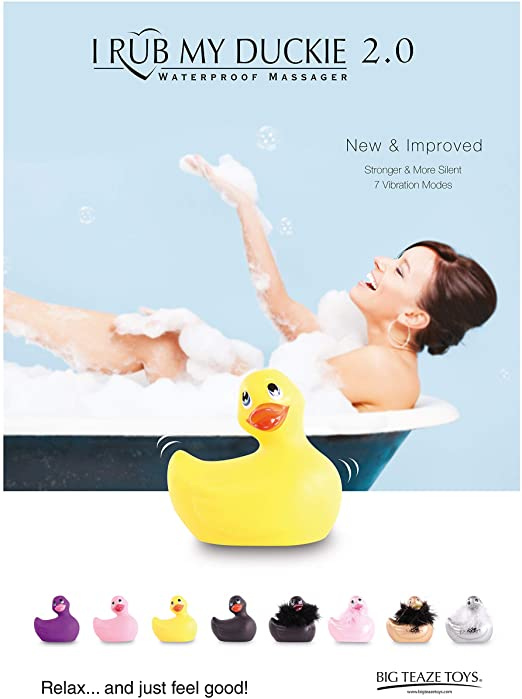 I Rub My Duckie 2.0 Classic Massager banner shower