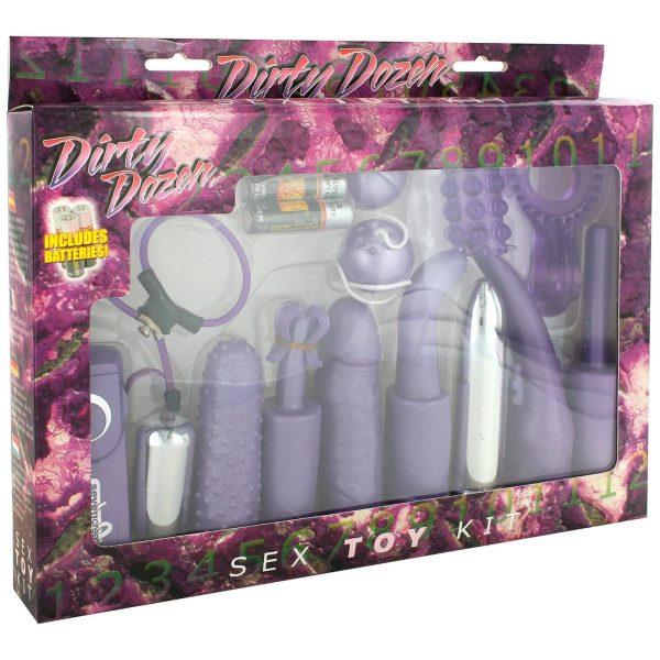 Dirty Dozen Sex Toy Kit Purple package