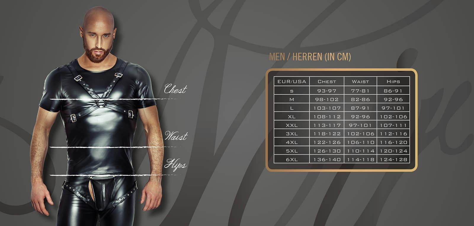 Noir Handmade men size chart