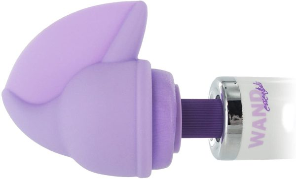 Wand Essentials Flutter Tip Silicone Attachment on a magic wand