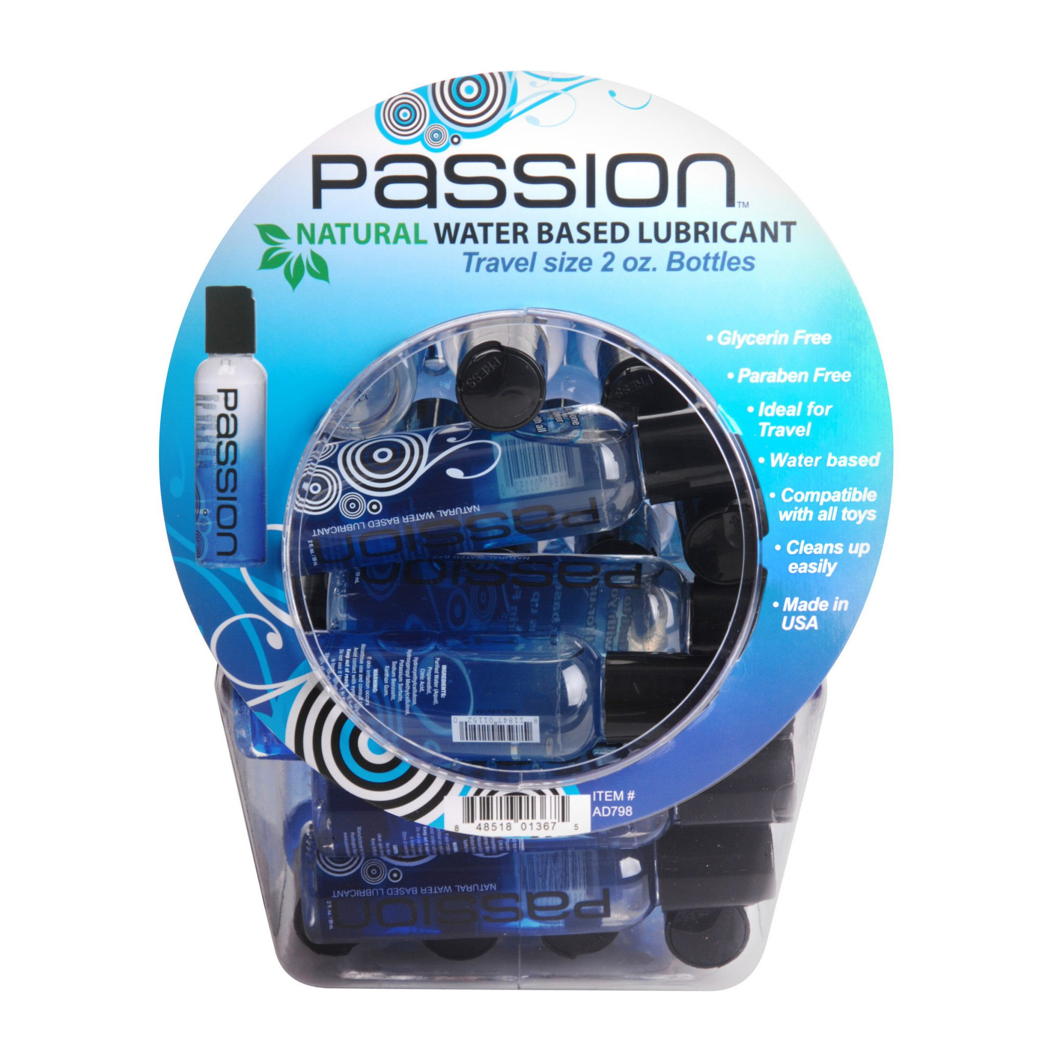 Passion Naturals Fishbowl Retail Display- 30 Piece Display