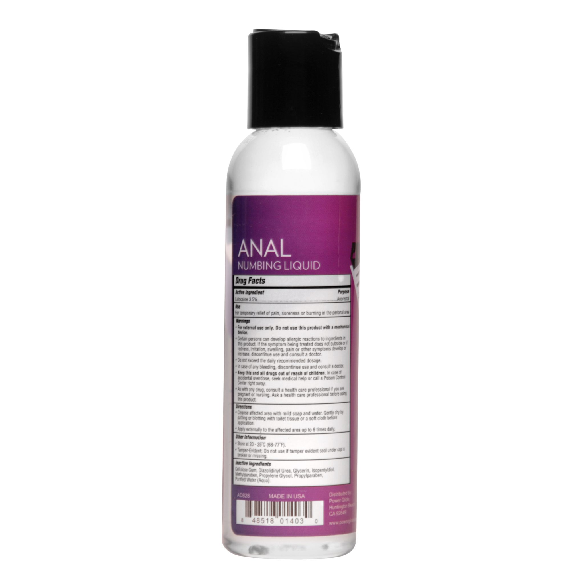 Power Glide Anal Numbing Personal Lubricant- 4 oz