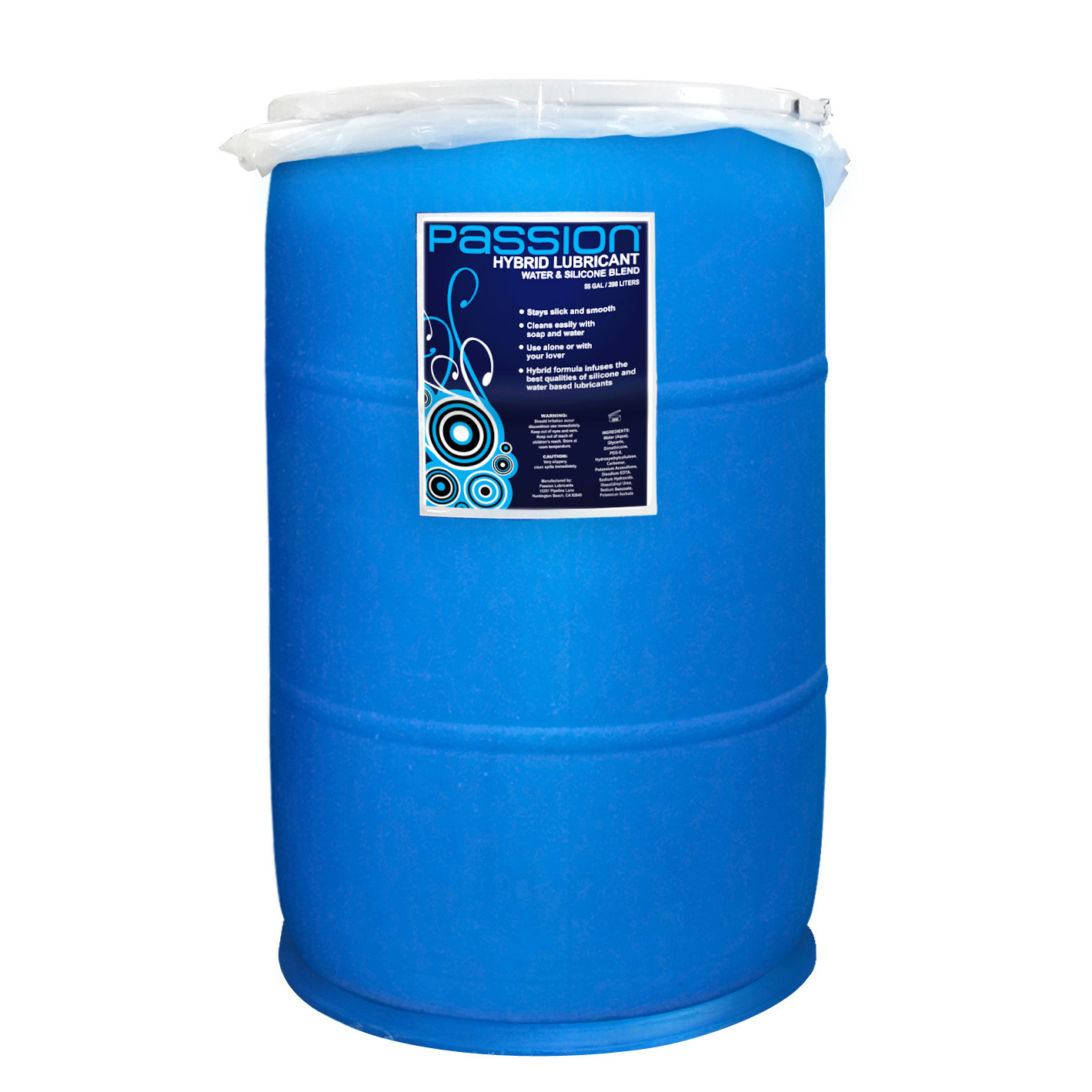 Passion Water and Silicone Blend Hybrid Lubricant – 55 Gallon