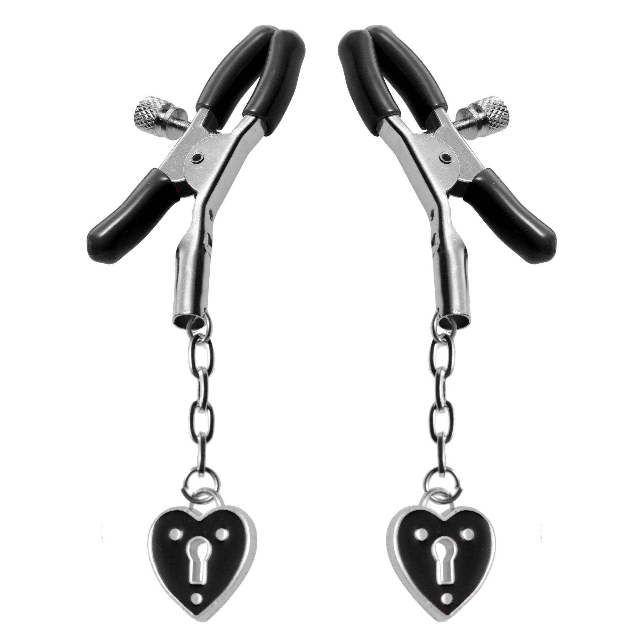 Charmed Heart Padlock Nipple Clamps