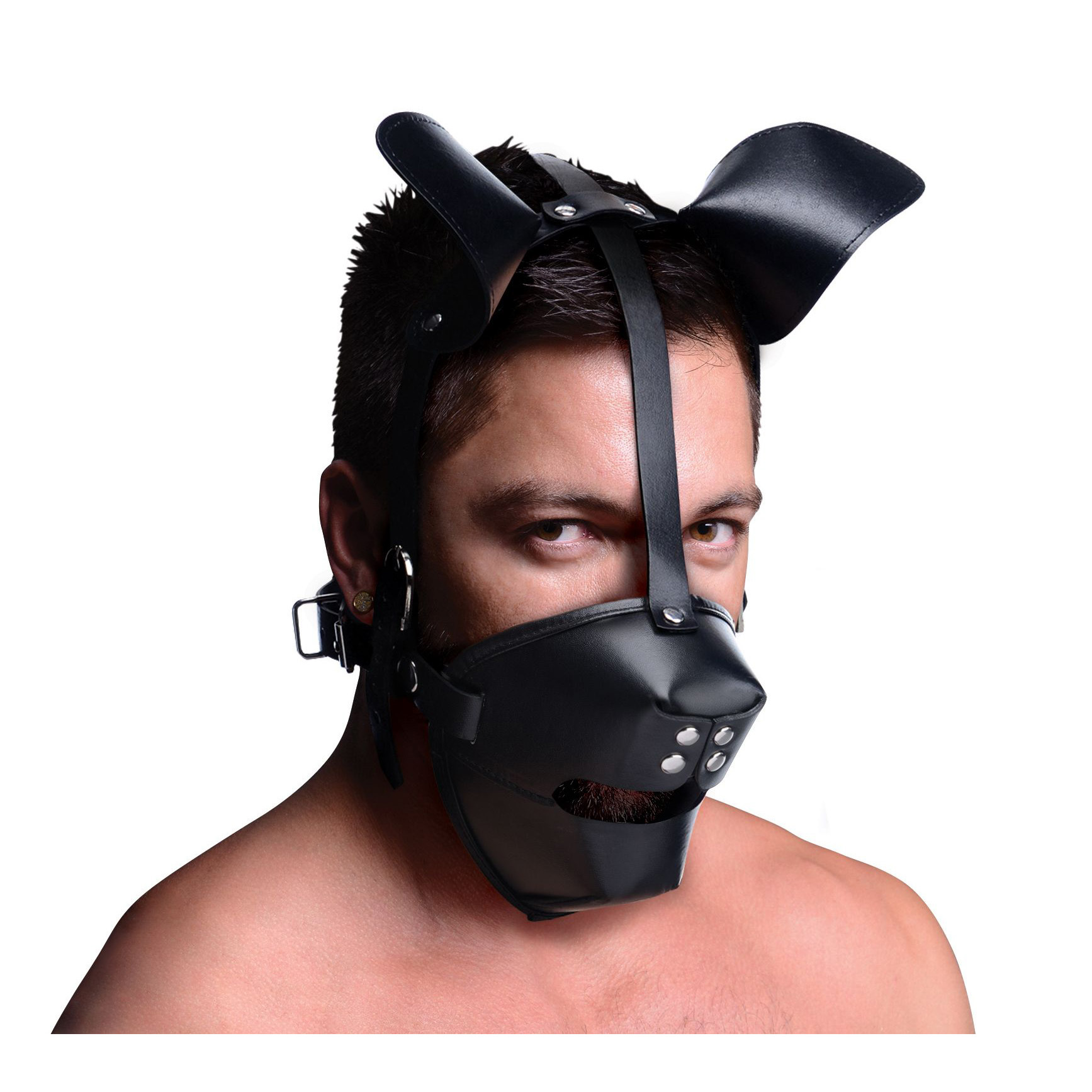 Pup Puppy Play Hood and Breathable Ball Gag
