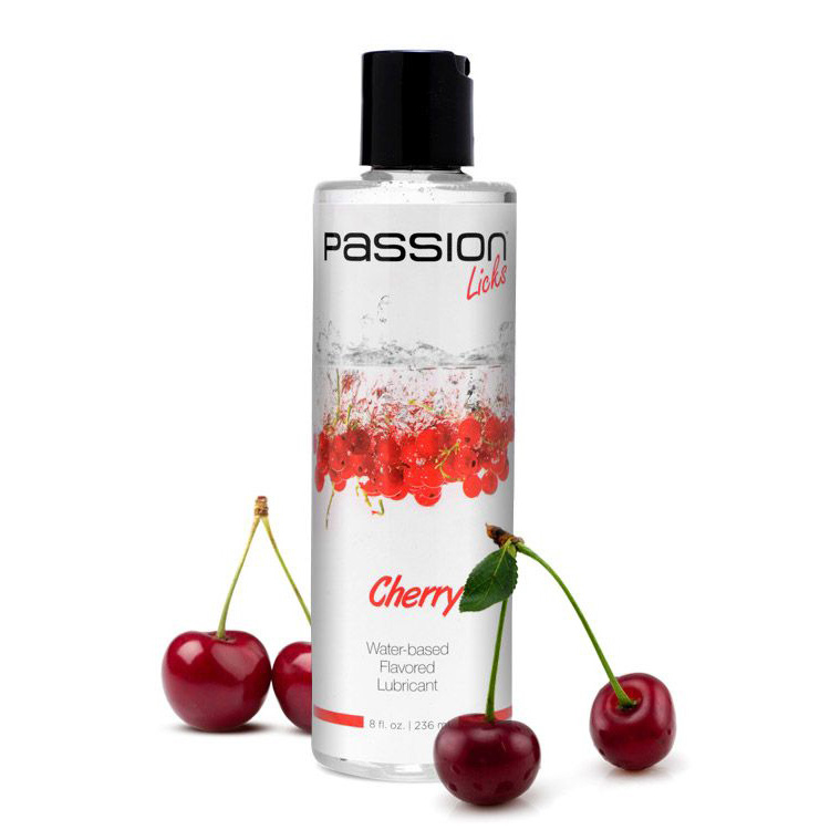 Passion Licks Cherry Water Based Flavored Lube – 8 oz