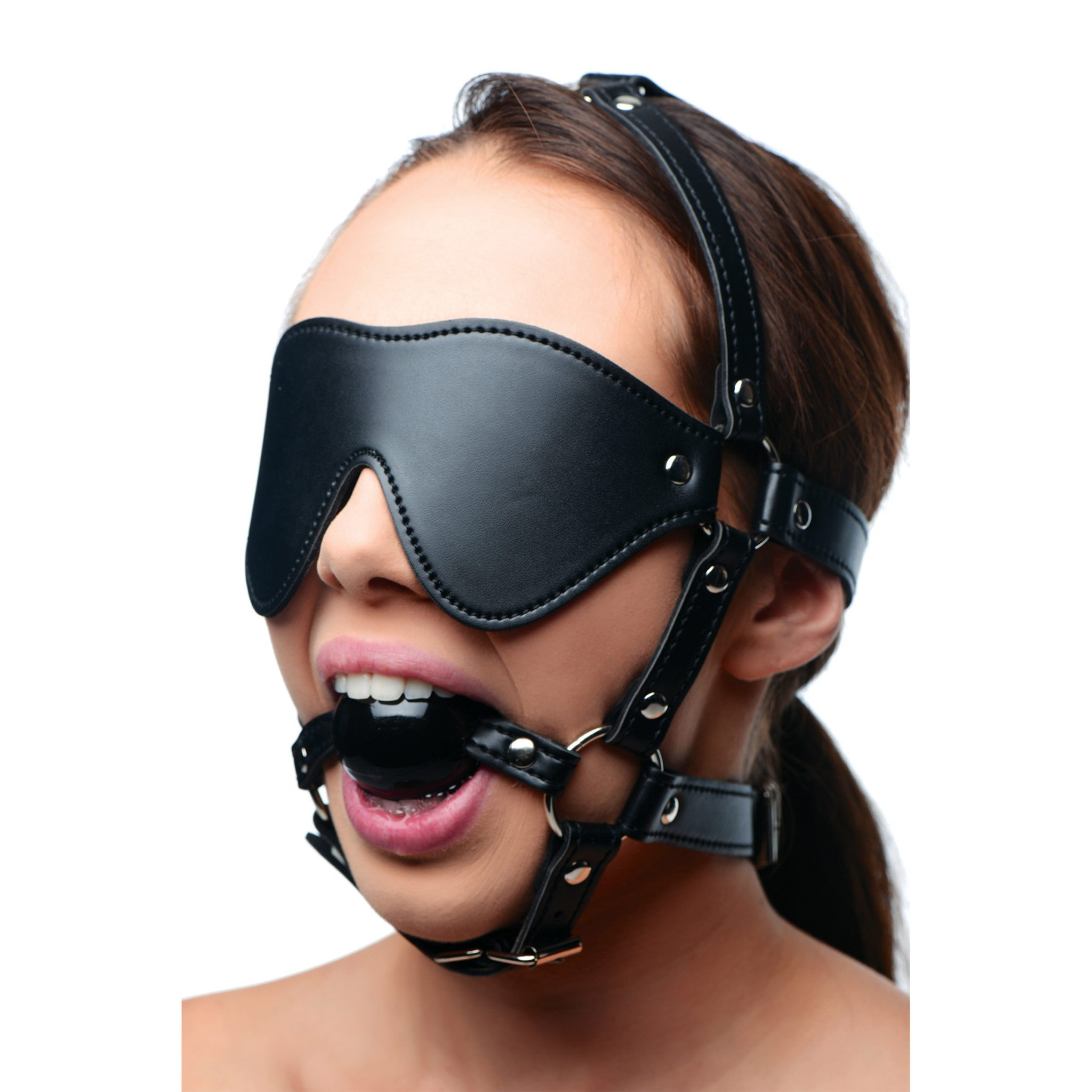 Blindfold Harness and Ball Gag