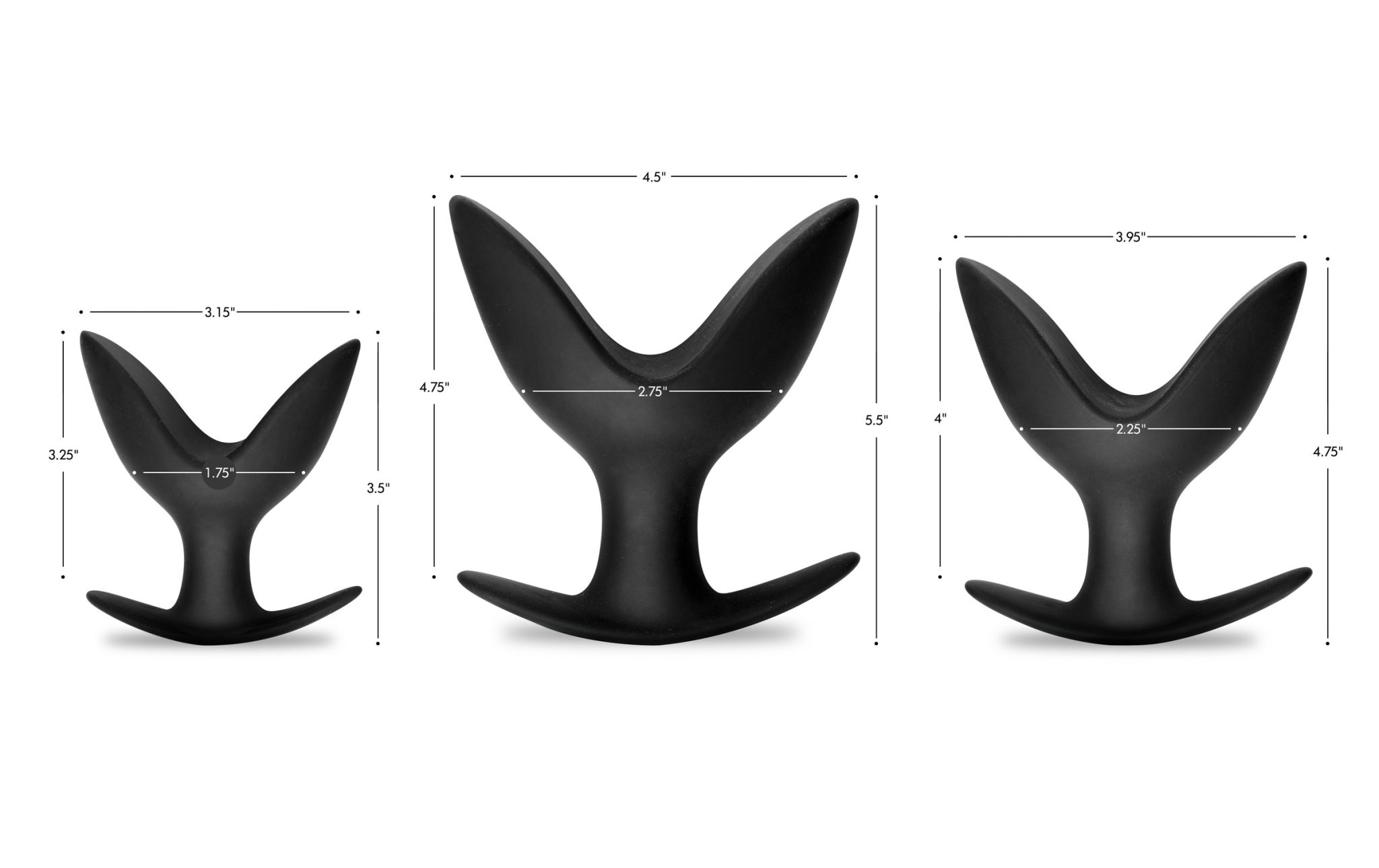 Master Series Ass Anchors Silicone Anal Anchor 3 Piece