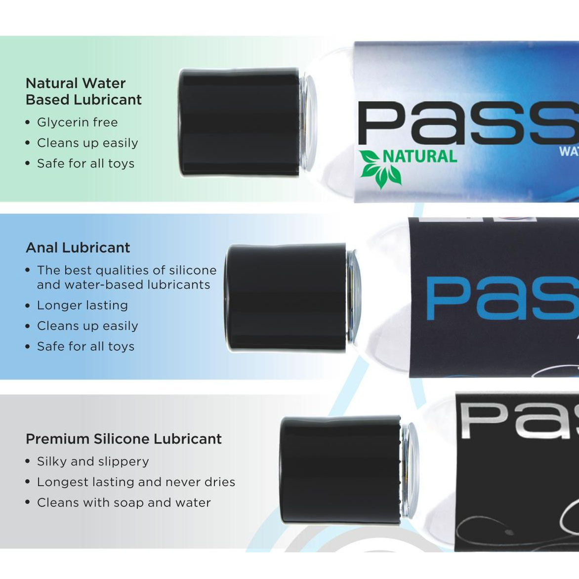 Passion Lubricant 3 Piece Sampler Set