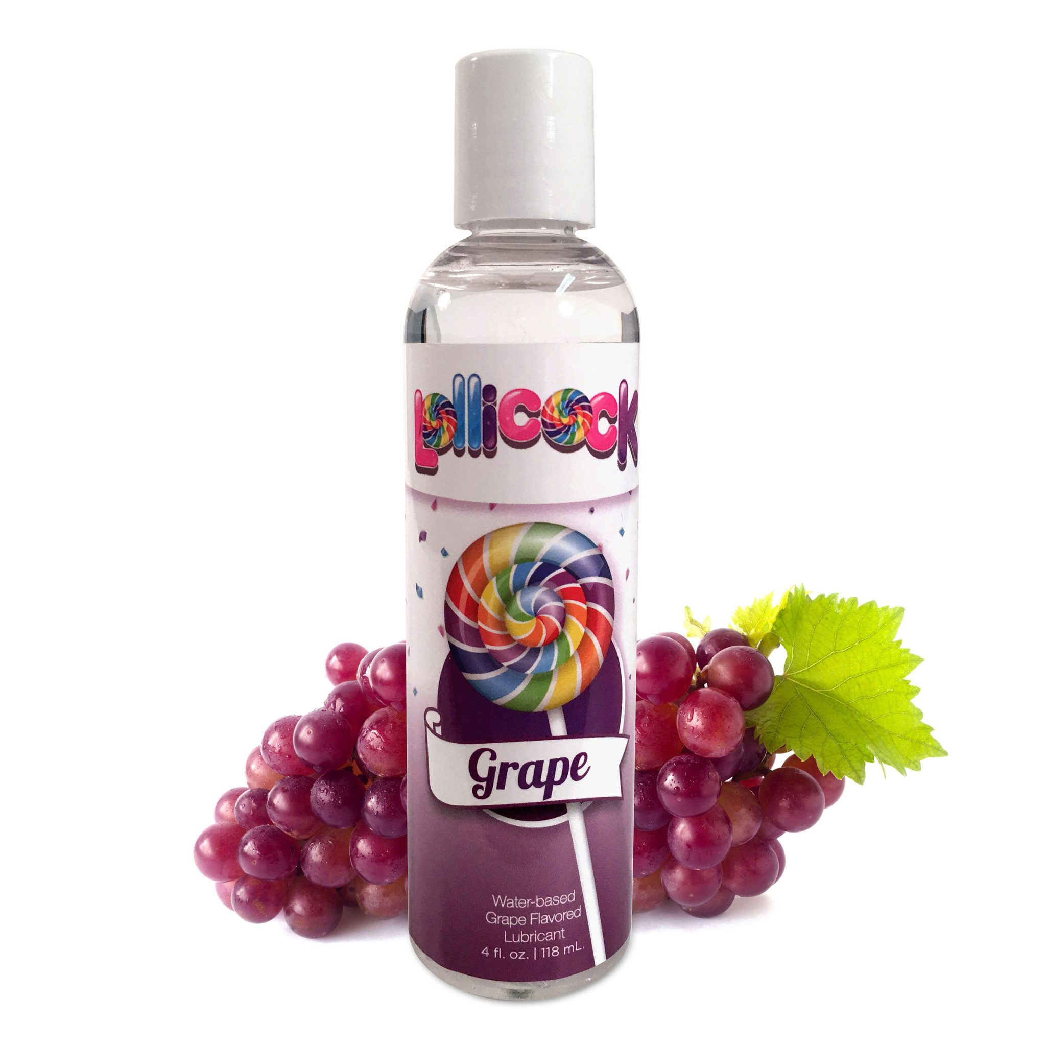 Lollicock 4 oz. Water-based Flavored Lubricant – Grape