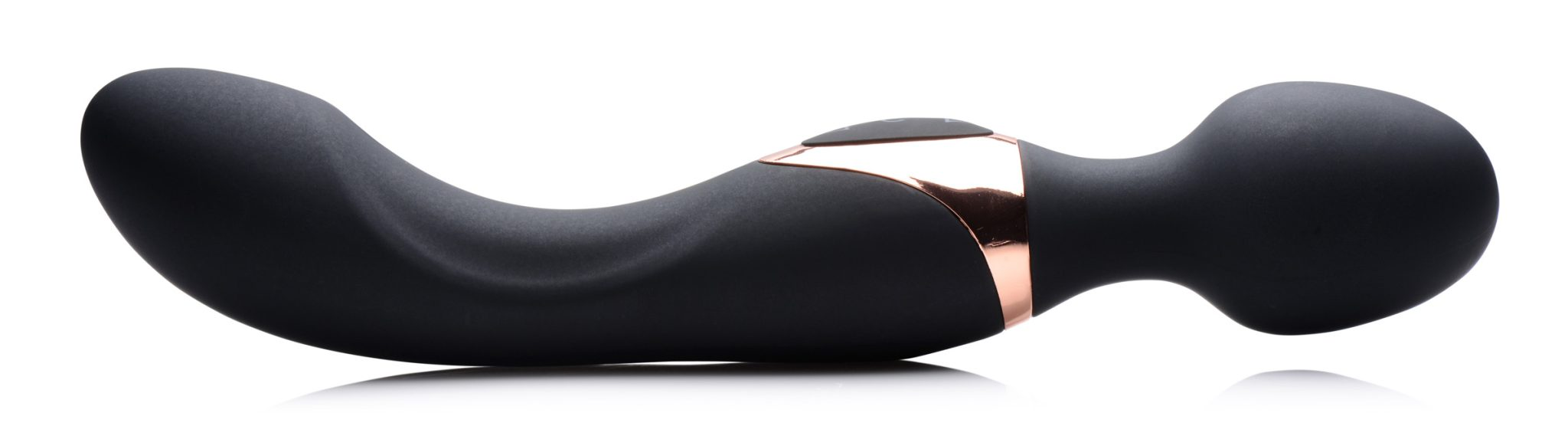 10X Dual Duchess 2-in-1 Silicone Massager – Black