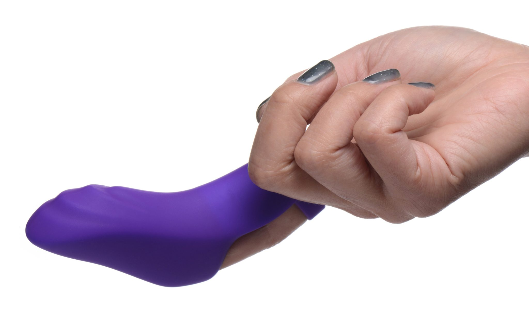 7X Finger Bang Her Pro Silicone Vibrator – Purple