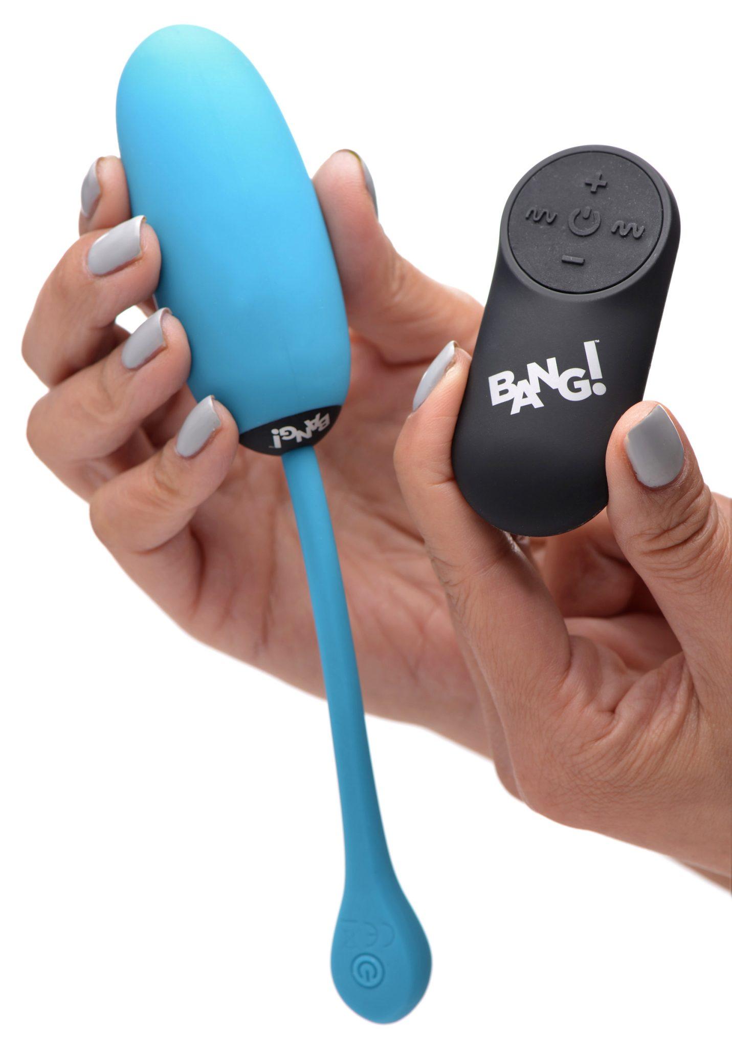 Remote Control 28X Silicone Plush Egg – Blue