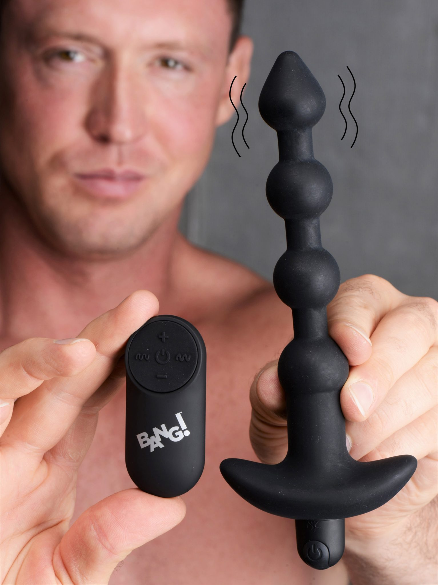 Remote Control Vibrating Silicone Anal Beads – Black