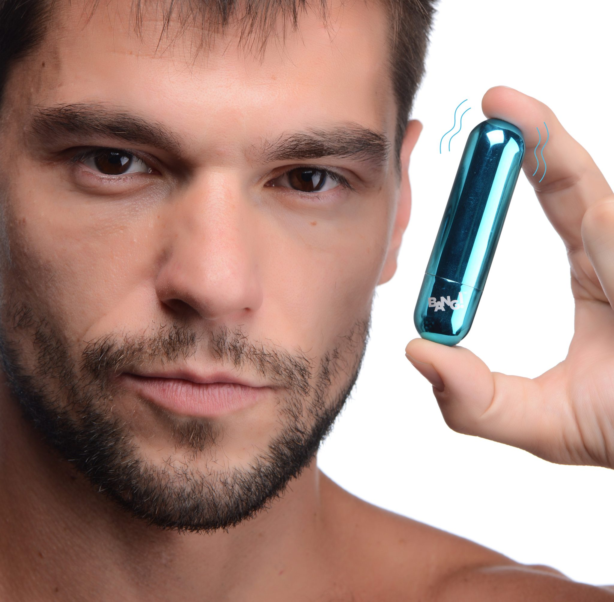 10X Rechargeable Vibrating Metallic Bullet – Blue