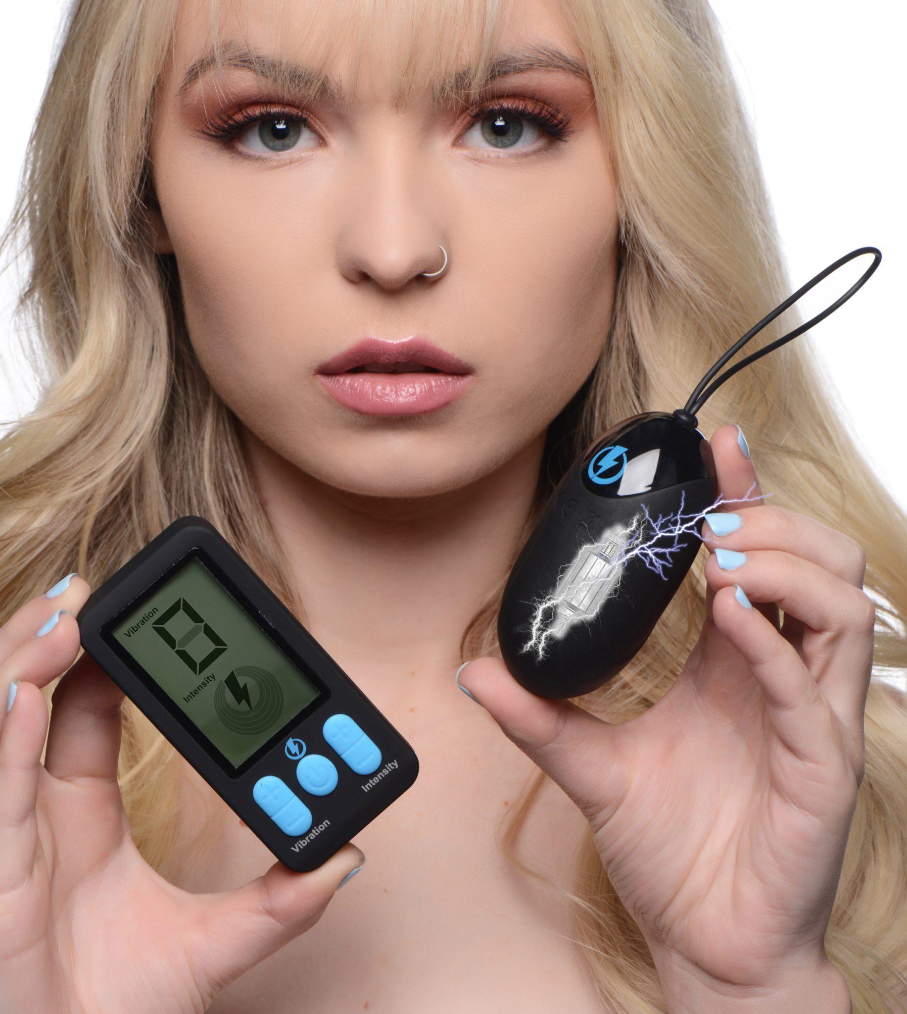 E-Stim Pro Silicone Vibrating Egg with Remote Control