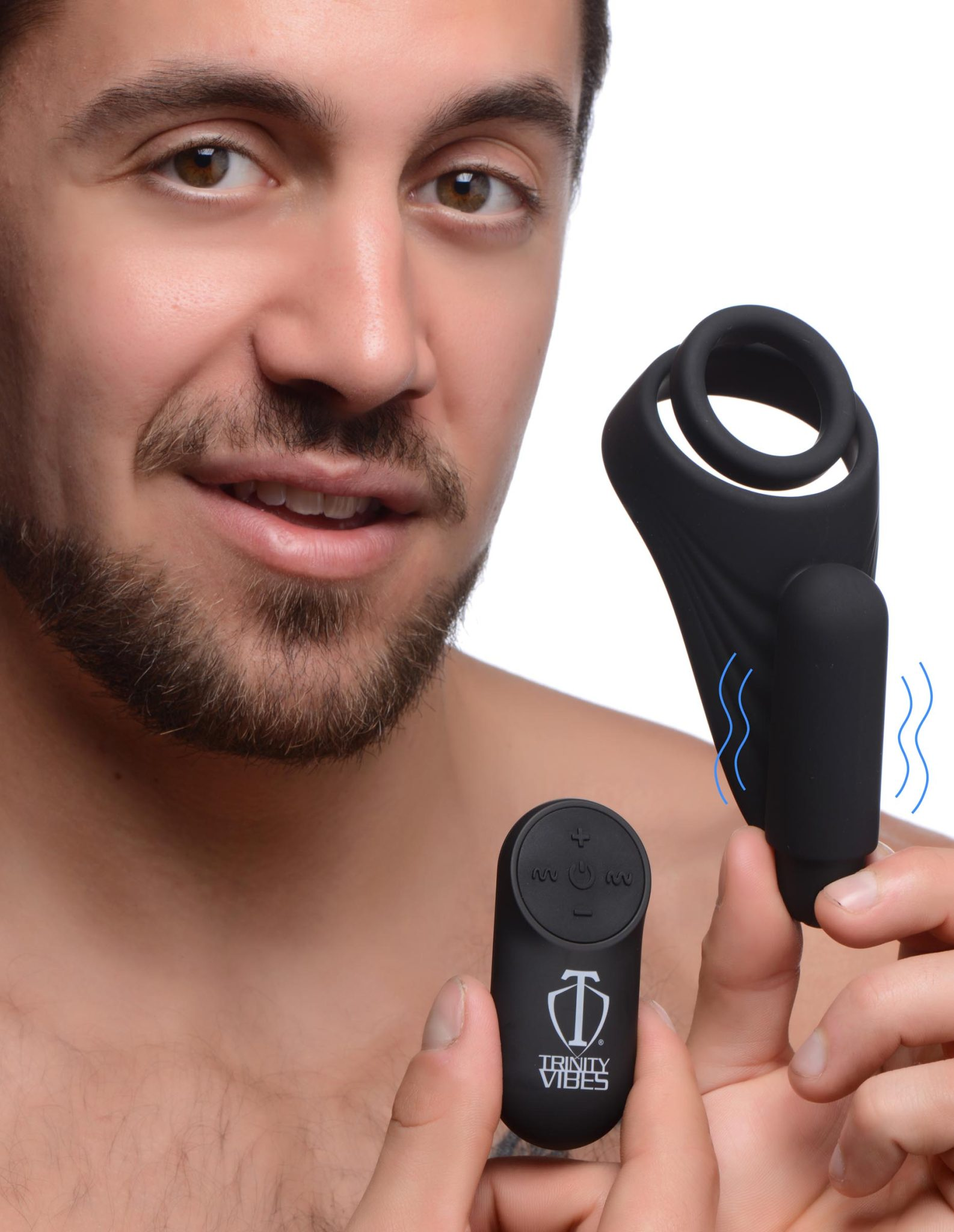 7X Silicone C-Ring with Vibrating Taint Stimulator