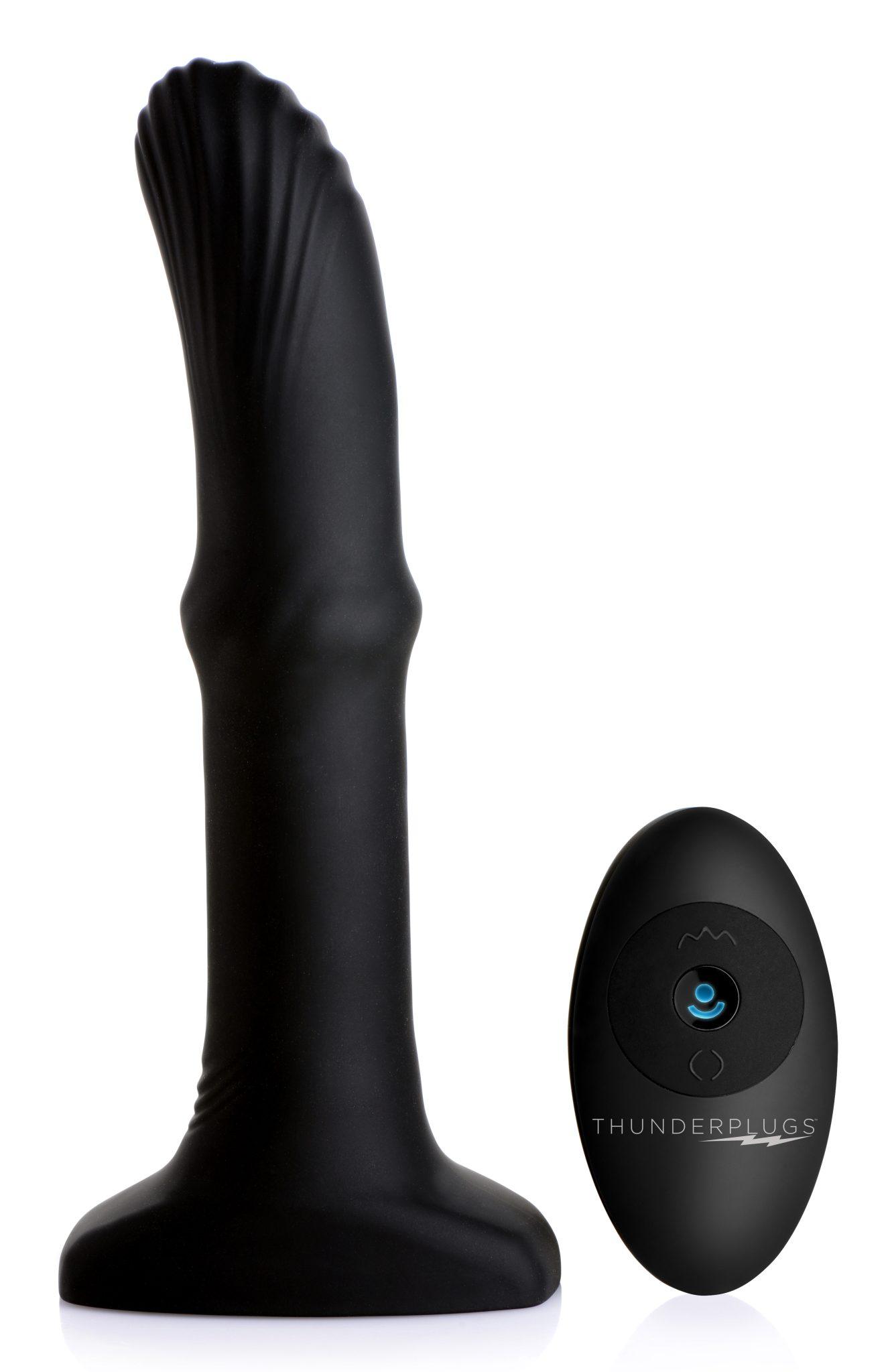 Sliding Shaft Silicone Anal Vibrating Plug