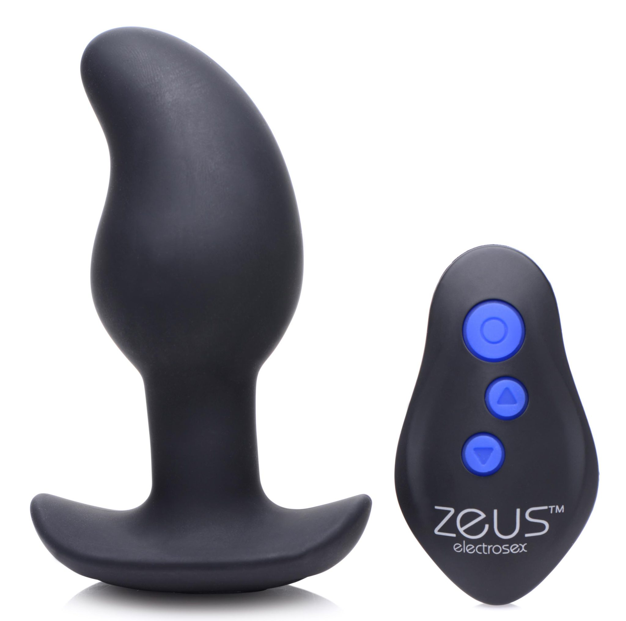 8X Volt Drop Vibrating and E-Stim Silicone Prostate Massager with Remote