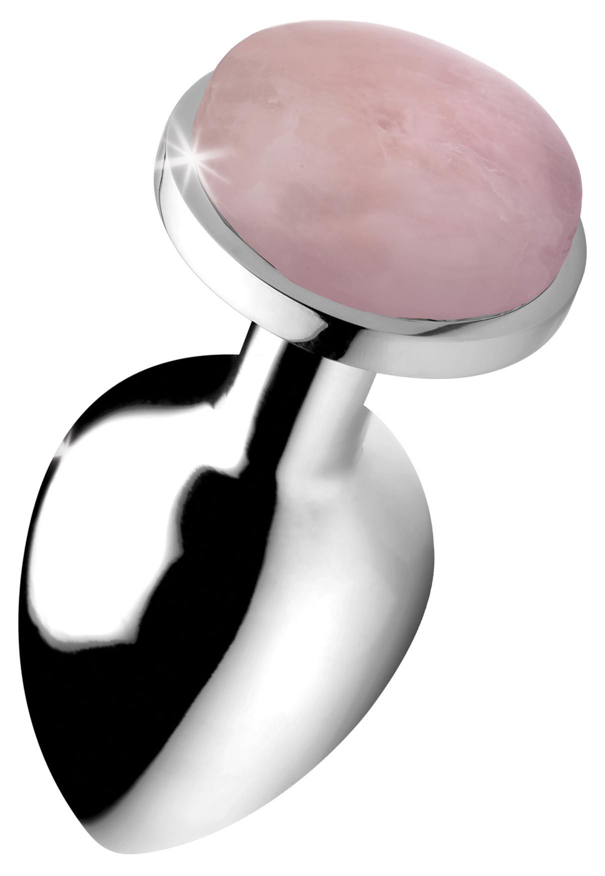 Authentic Rose Quartz Gemstone Anal Plug – Large
