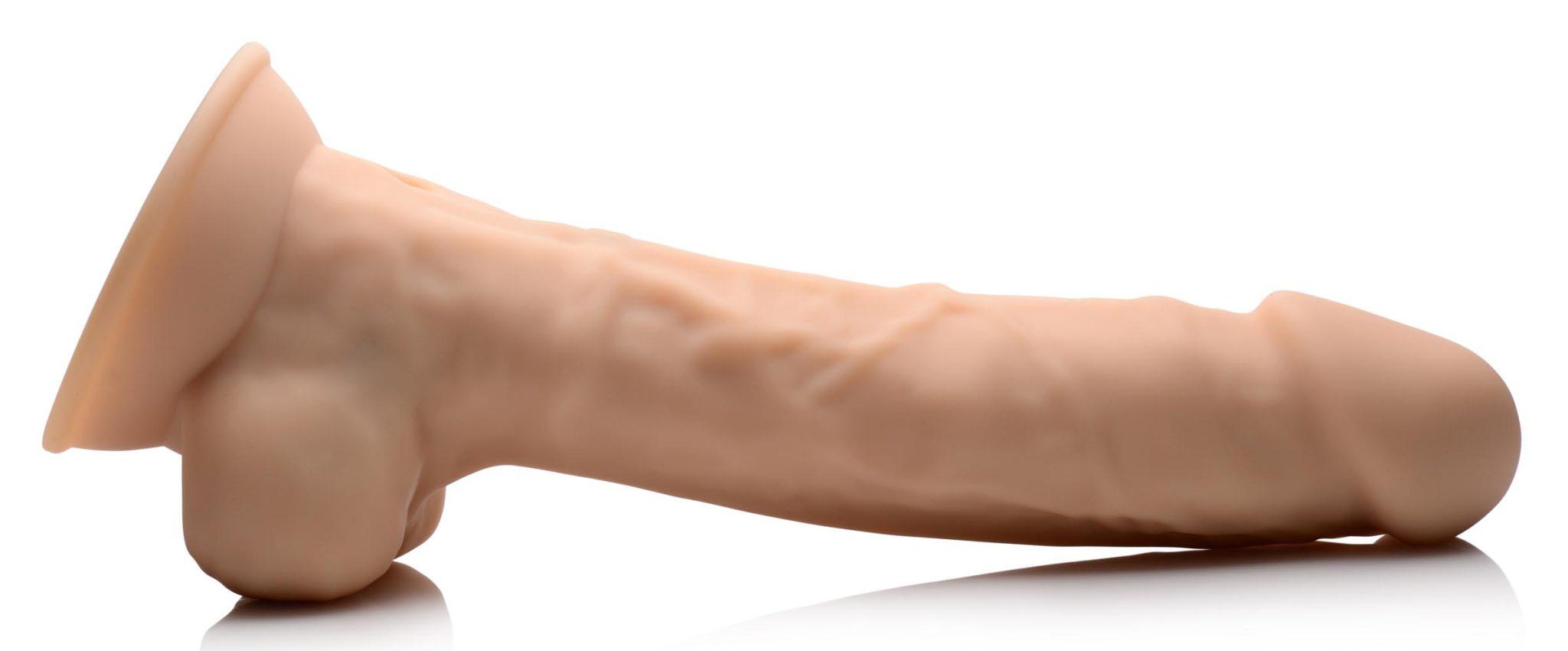 8 Inch Silexpan Hypoallergenic Silicone Vibrating Dildo – Light