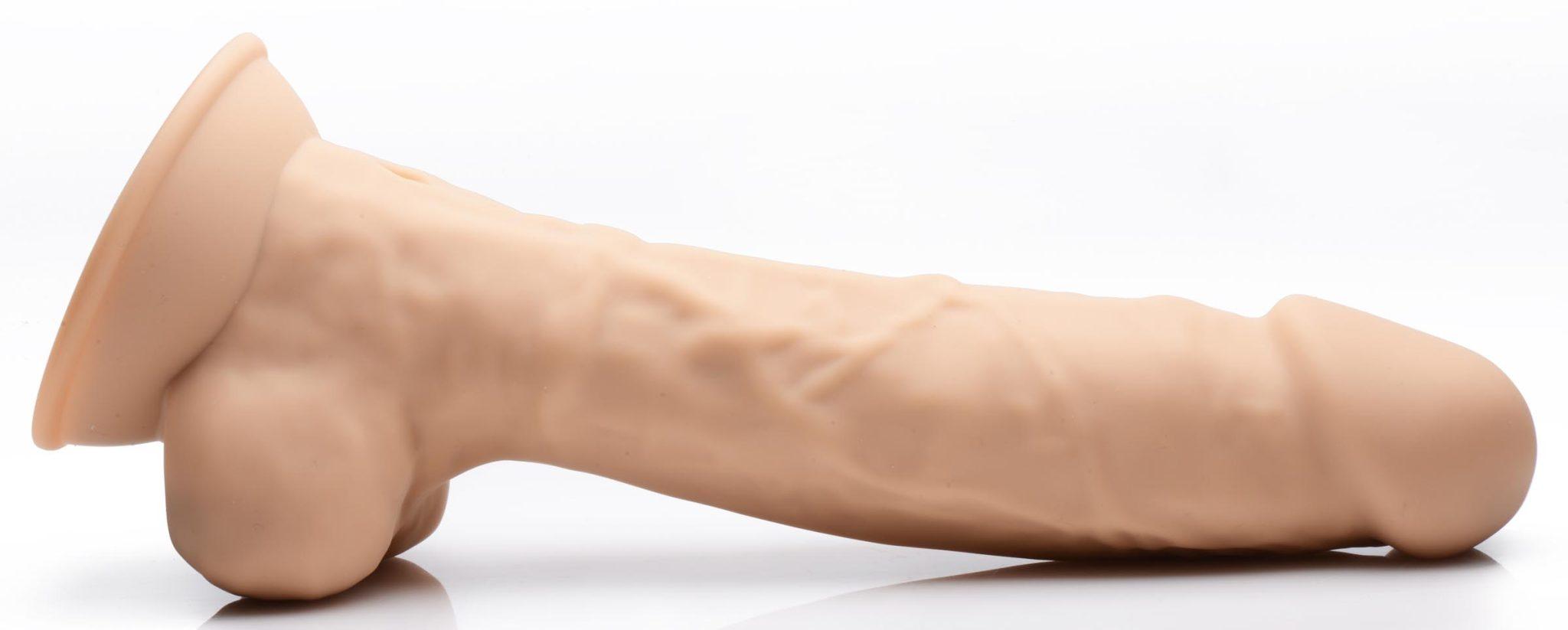 8 Inch Silexpan Hypoallergenic Silicone Vibrating Dildo – Medium