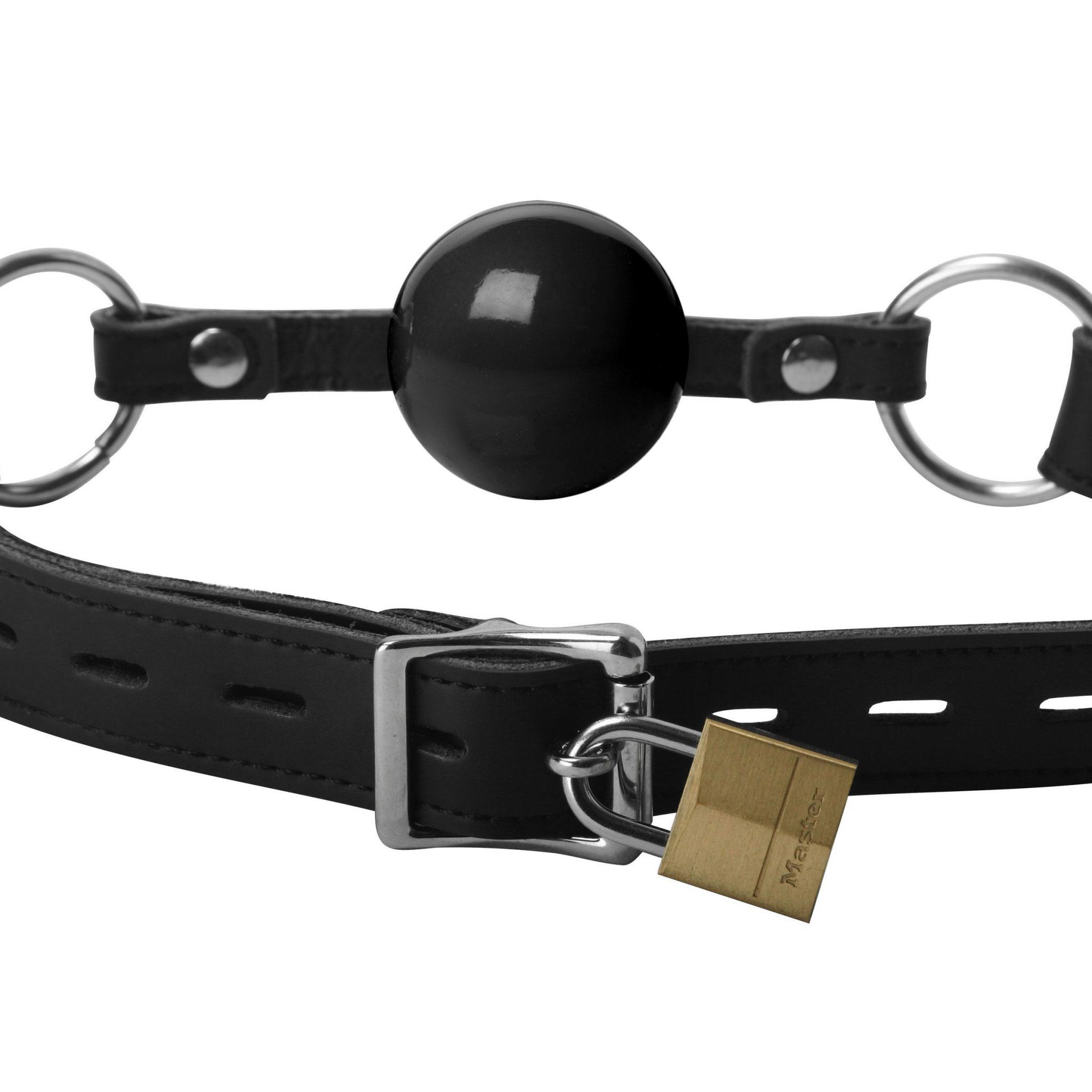 Classic Locking Silicone Ball Gag – Black