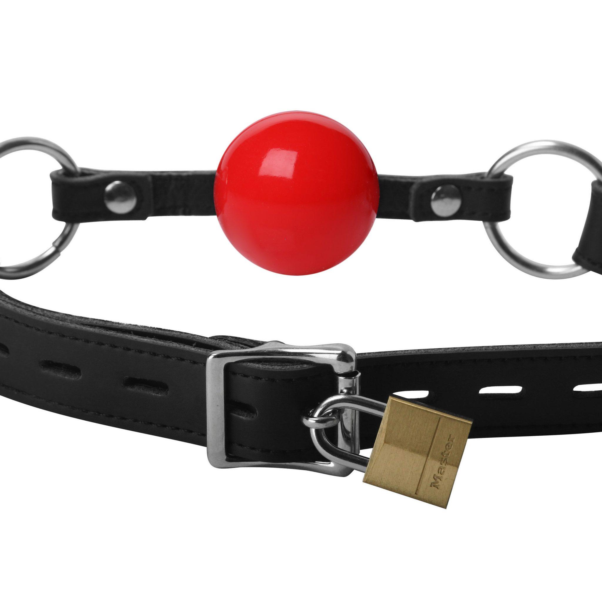 Classic Locking Silicone Ball Gag – Red