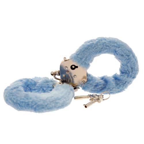 Furry handcuffs – light blue
