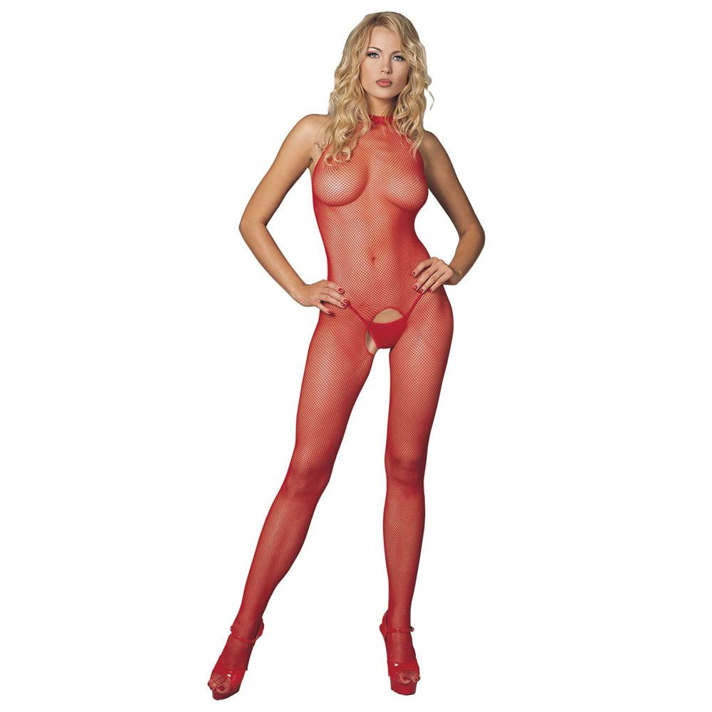 Sexy leotard with open crotch and a high neck size 36 – 42 Leg Avenue