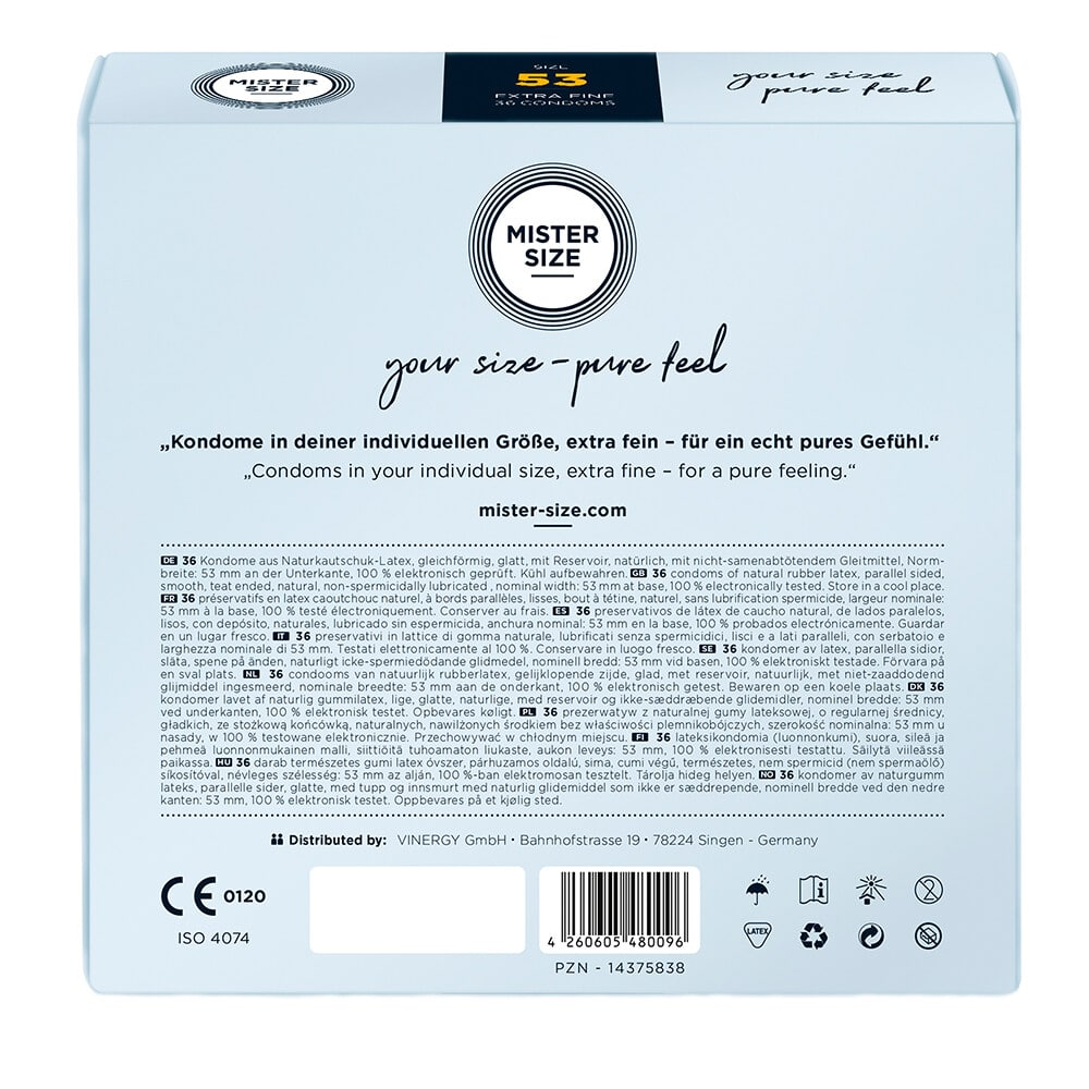 Mister Size 53mm Your Size Pure Feel Condoms 36 Pack