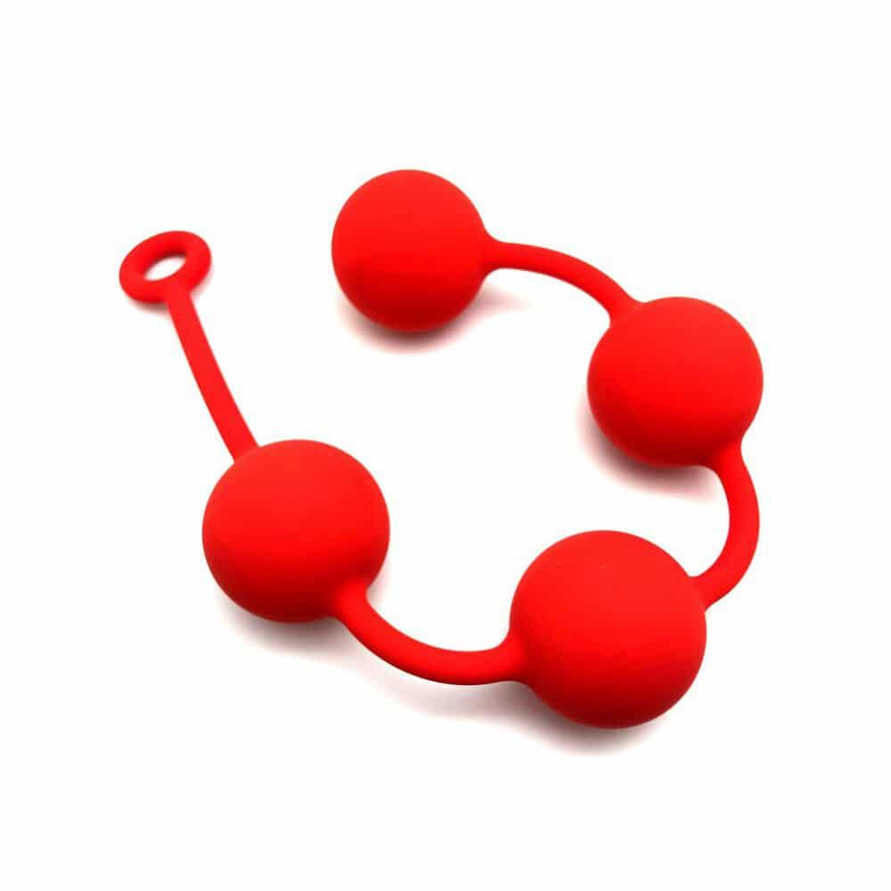Red Quartet Anal Balls 6cm