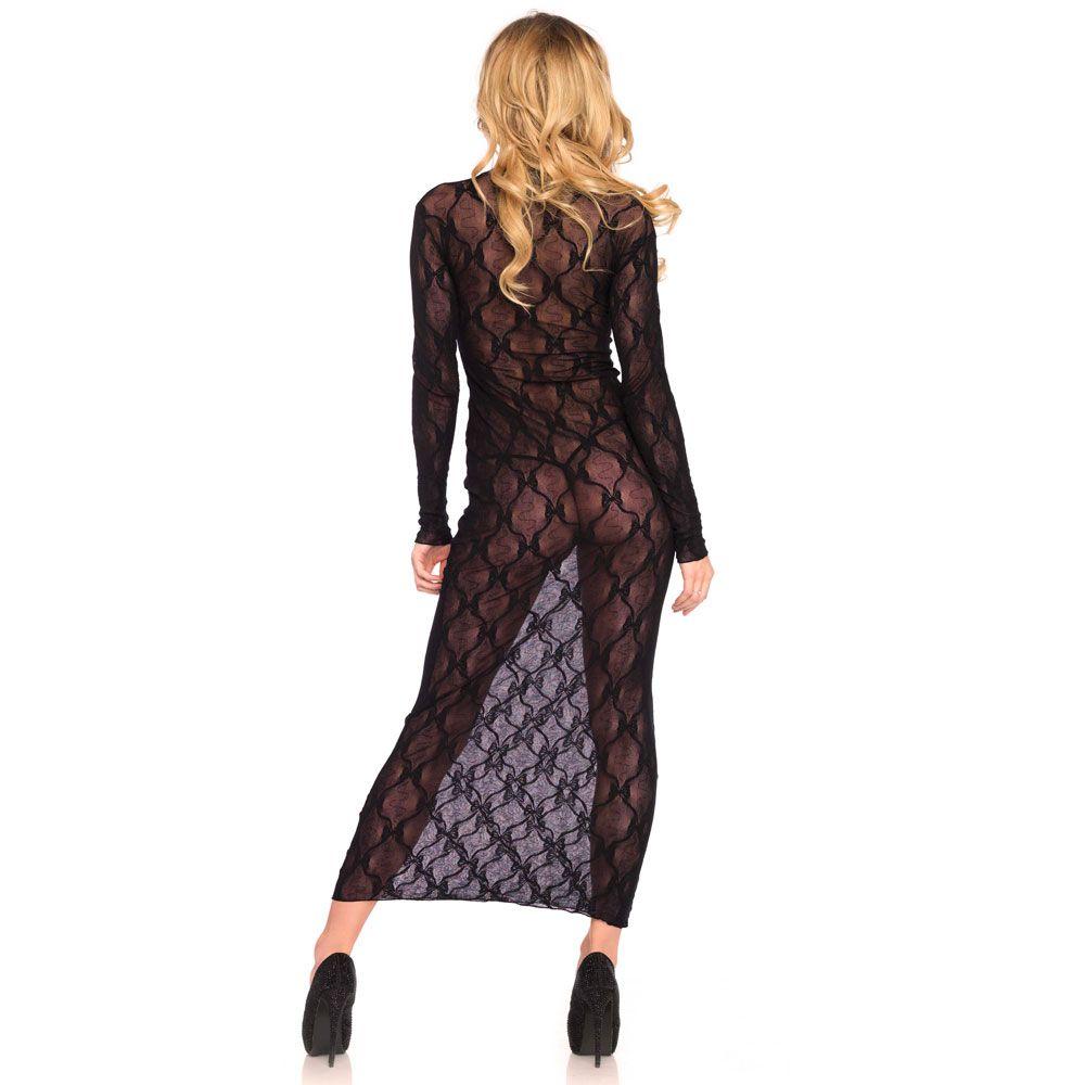 Leg Avenue Long Sleeved Long Dress UK 8 to 14
