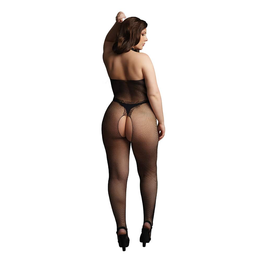 Le Desir Fishnet And Lace Bodystocking UK 14 to 20