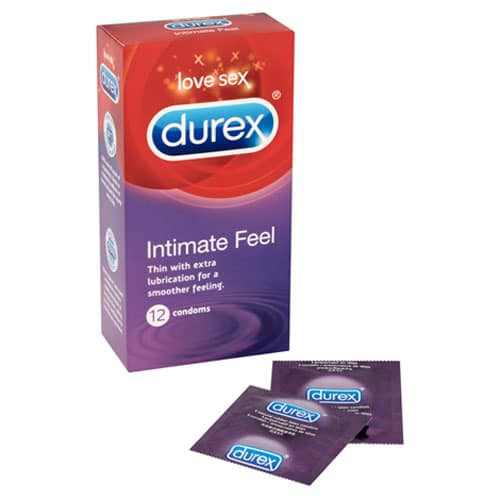 12 Durex Intimate Feel Condoms