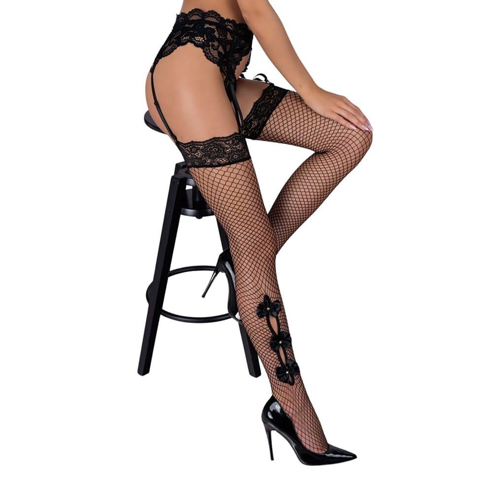 Corsetti Mikosina Fishnet Stockings Black