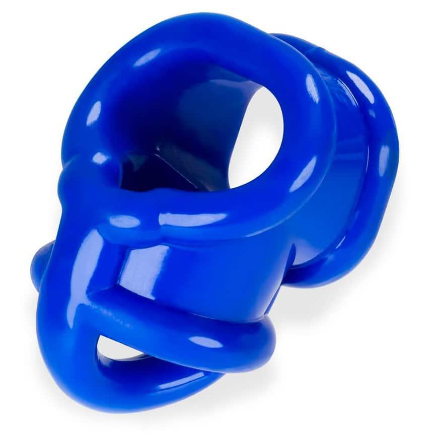 Oxballs Ballsling With Ballsplitter Cockring Police Blue