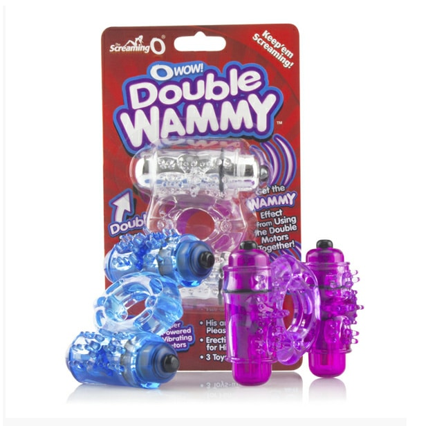Screaming O O Wow Double Whammy Vibrating Cock Ring
