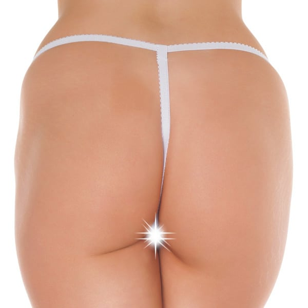 White Crotchless GString